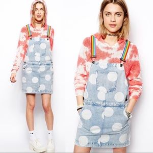 {Lazy Oaf} Over The Rainbow Dungaree Overall Dress